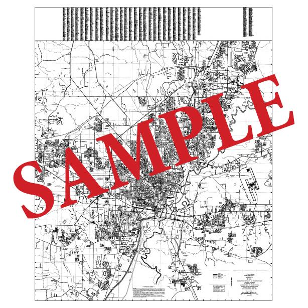 36x48 Jackson Urbanized Area Maps
