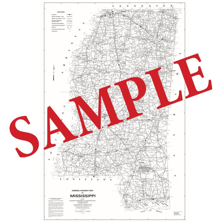 General Mississippi Highway Map